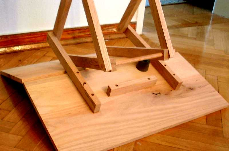 wooden folding table plan