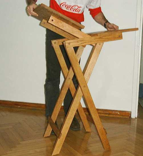 Folding Table - How To Make A Folding Table Legs